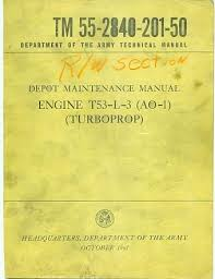 Lycoming T53-L-3 Turbine Aircraft Engines Manual TM 55-2840-201-50 ...