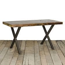 reclaimed wood furniture modern. industrial modern x frame reclaimed wood table furniture