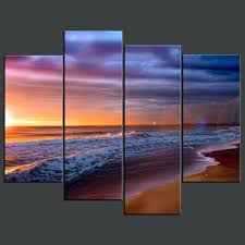 full size of bed outstanding beach canvas wall art 3 scenes for most recent arts scene