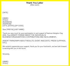 Official Thank You Letter Format Letter Simple Example