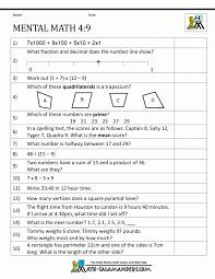 Grade Math Integersheets Printable For Algebraic Expressions ...