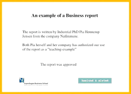 Short Business Report Sample 16 Free Business Report Template Leterformat