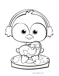 Penguins Coloring Pages Cute Baby Penguin Coloring Pages At Free Mr