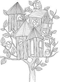wele to dover publications free coloring book page whimsical birdhouse