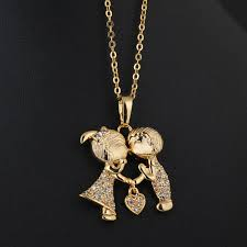 baby boy charms for necklaces awesome korea romantic kissing baby pendant necklace delicate gold shiny
