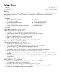 Example Electrician Resume Best Residential Electrician Resume Skills Example Download Sample Best
