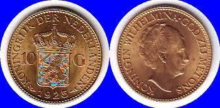 waarde van gouden tientje 1925