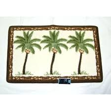 palm tree bath rug from target home border area rugs mat set