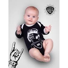 <b>AmaroBaby Боди</b> длинный рукав Rock Baby 01 Born to rock ...