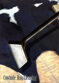 cowhide rug cleaning