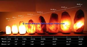 himalayan salt lamp size charts guides to choose the right one