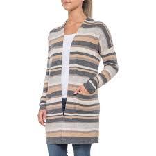 Paul Costelloe Multi Striped Long Cardigan Sweater For