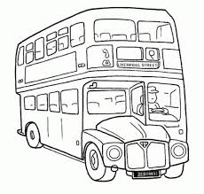 Small Picture Bus Coloring Page Here Come The Double Decker Bus Coloring Pages