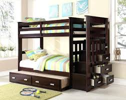 bunk bed with trundle and drawers bunk bed trundle drawers desk