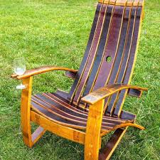 wine barrel chair plans rocking