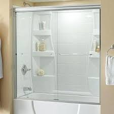 69 in under bronze bathtub doors bathtubs the home depot glass tub doors frosted glass bathroom