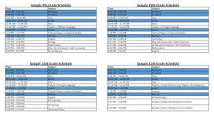 Sample Schedules Yeshiva University High School For Boys Mta