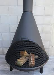 outdoor fireplace black