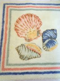 jc penney classic traditions 3pc sea shell bathroom rug