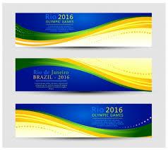 banner design template olympic rio de janeiro 2016 banner design templates vectors stock