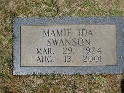 Mamie Ida Swanson (1924 - 2001) - Genealogy