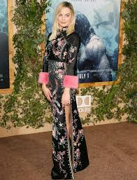 gucci inspired clothing. margot robbie reinvents red carpet dressing in a mandarin-inspired gucci gown at the tarzan premiere inspired clothing s