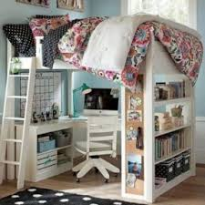 bunk bed office. White Wood Loft Bed With Desk Bunk Office