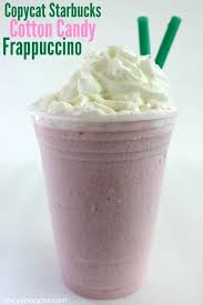 copycat starbucks cotton candy frappuccino new item that can be made right at home