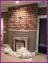 shocking tile over brick fireplace hearth designs image for