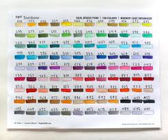 Tombow Markers Color Chart Coloringwall Co