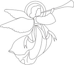Small Picture angel coloring page Christmas Pinterest Angel Angel drawing