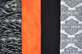 1 yd ea. HARLEY DAVIDSON Logo, Orange, Black Flame & Black Quilt ... & Image is loading 1-yd-ea-HARLEY-DAVIDSON-Logo-Orange-Black- Adamdwight.com