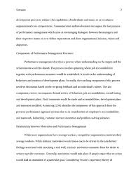 management essay performance management essay