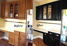 painted oak kitchen cabinets before and after. Cabinet Refinishing Before And After Pictures Inside Painting Oak Kitchen Cabinets Renovation Painted L