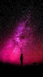 Galaxy Dark Purple Wallpaper