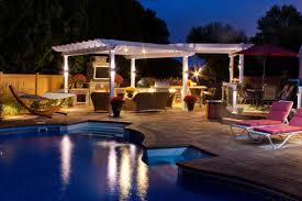 outdoor kitchen lighting. Outdoor Kitchen Lighting And Pool