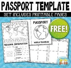 Free Passport Template For Kids FREE Passport Booklet Template Set Includes 100 Page TemplatesYou 32
