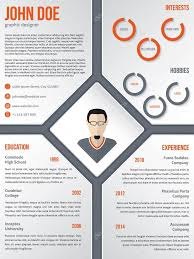 Resume Modern E Modern Cv Resume Template With Photo In Middle Stock Vector