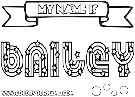 Small Picture Printable Name Coloring Pages Bailey