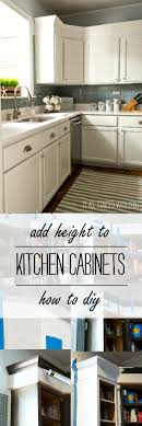 Of Kitchen Cabinets How To Add Height To Kitchen Cabinets