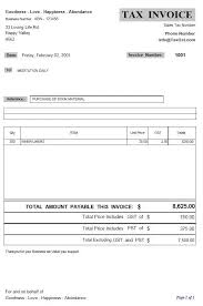 Standard Invoices Template Business Invoice Forms Tax Invoices And Non Tax Invoice Samples
