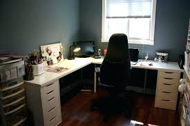 l shaped home office.  Office Contemporary L Shaped Desk Good Looking White Color And  Grey Wall Also Brown Modern Home Office Desks In