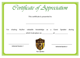 12 Genuine Samples Of Certificate Of Appreciation For