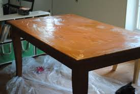 Refinished Kitchen Tables Runs With Scraps Refinish An Old Knotty Pine Dining Table The