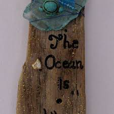 the ocean is where i belong driftwood and sea glass sign driftwo