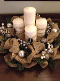 Advent Wreath Decorations 18 Inch Burlap And Evergreen Advent Wreath Advent Christmas