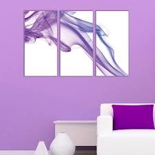 wall art decoration white and purple