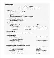 College Entrance Resume Template Unique Resume Template For College Application Resume And Cover Letter