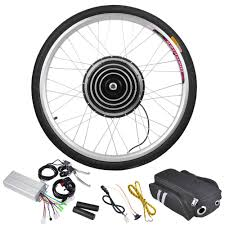 new leaf front wheel electric bicycle motor conversion kit battery not included motor specifications kit includes motorized wheel motor controller