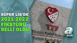 Süper Lig'de 2021-2022 Sezonunun Fikstürü Çekildi! İşte Derbi Haftaları / A  Spor / 13.07.2021 - YouTube